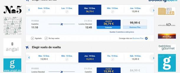 Vuelos a Londres desde el aeropuerto de Castellón